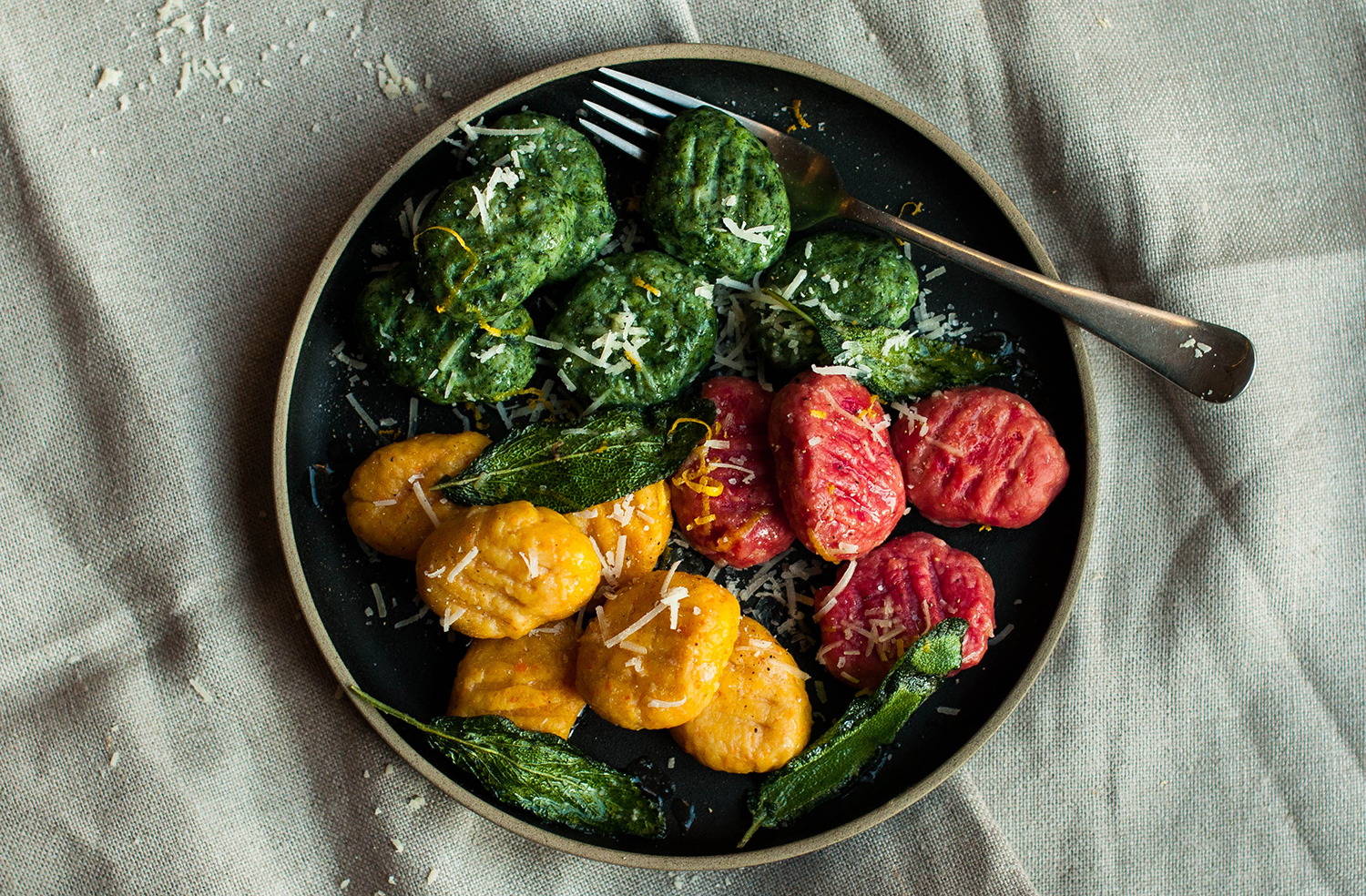 homemade-gnocchi-ricotta-spinach-carrot-beetroot-lea-lou-1