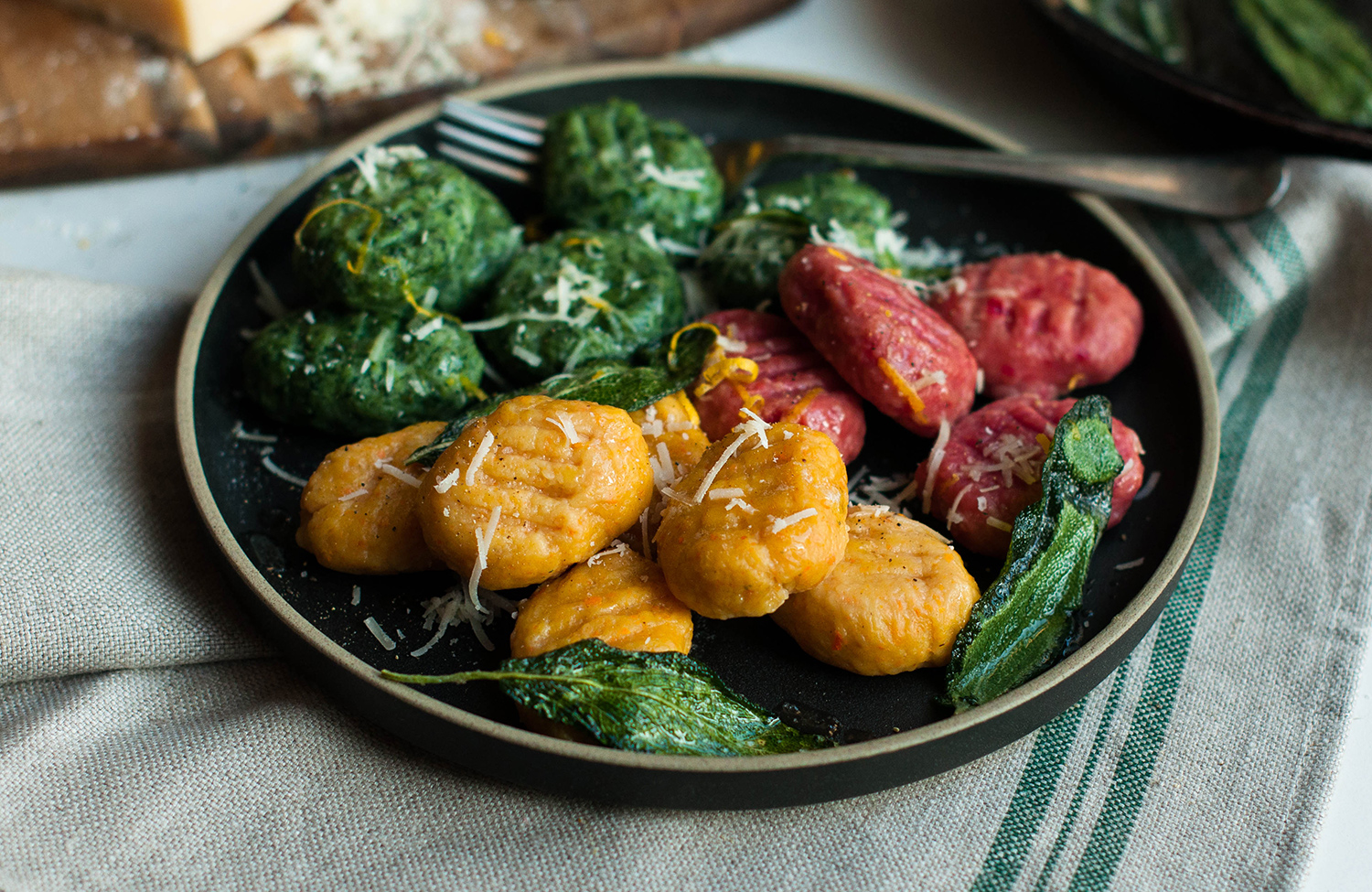 homemade-gnocchi-ricotta-spinach-carrot-beetroot-lea-lou-2