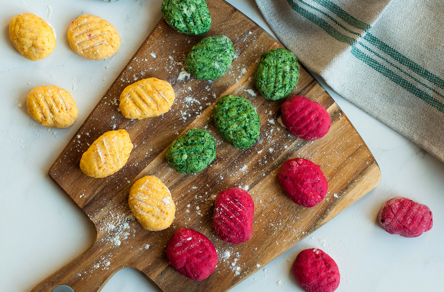 homemade-gnocchi-ricotta-spinach-carrot-beetroot-lea-lou-5