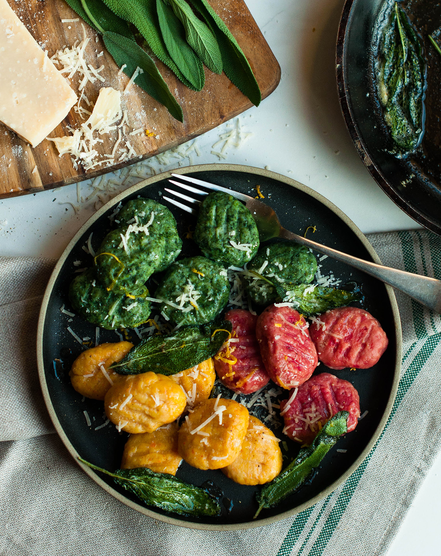 homemade-gnocchi-ricotta-spinach-carrot-beetroot-lea-lou