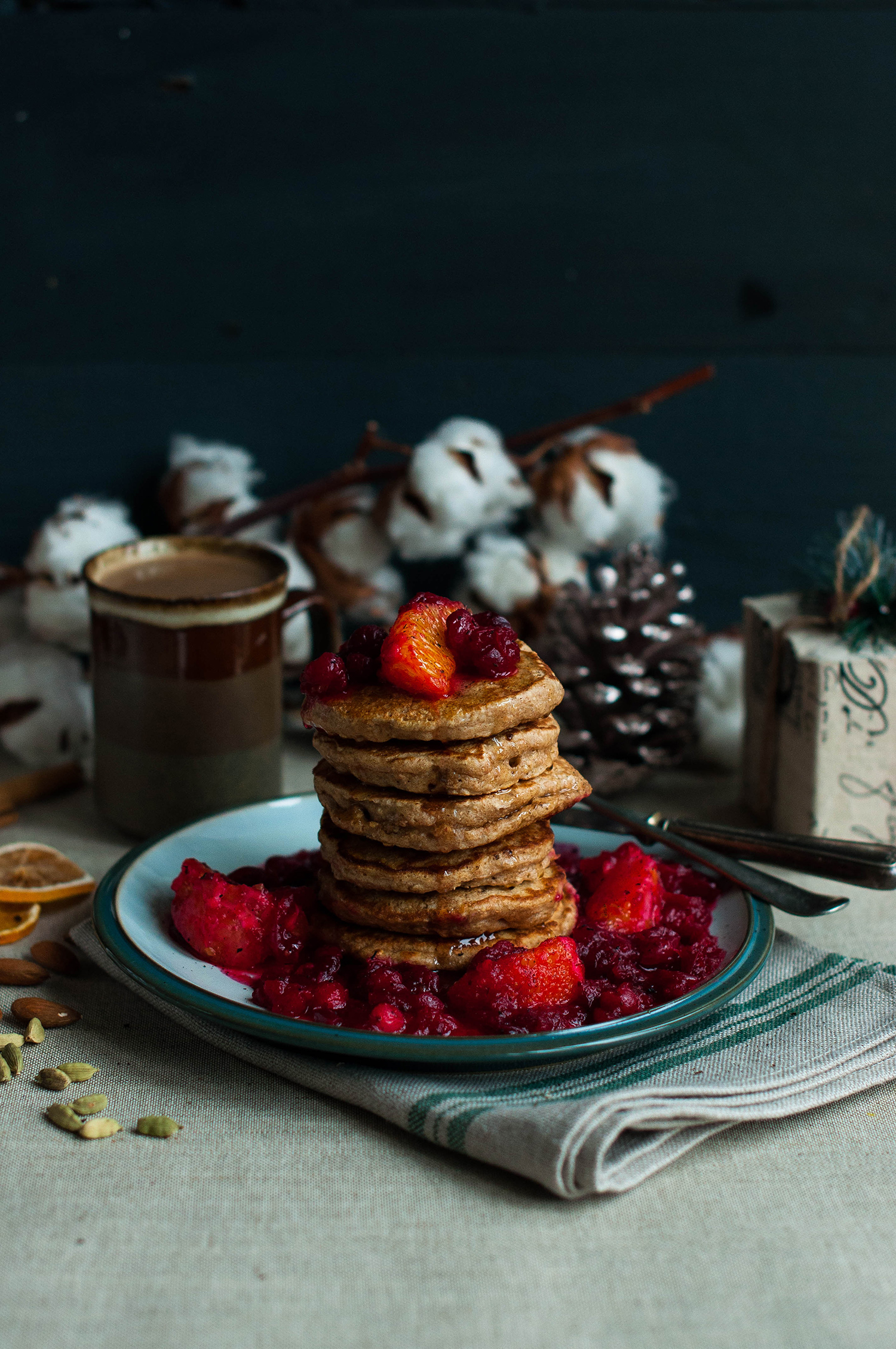 Cardamom-spelt-pancakes-cranberry-compote-lea-lou-2