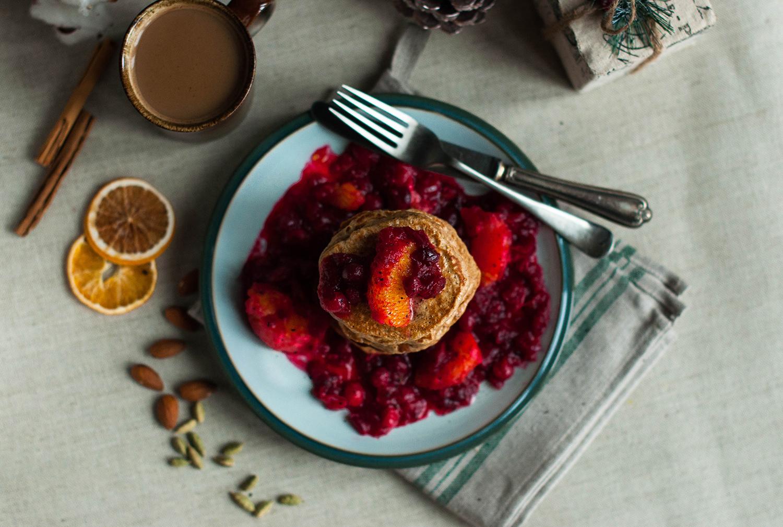 Cardamom-spelt-pancakes-cranberry-compote-lea-lou