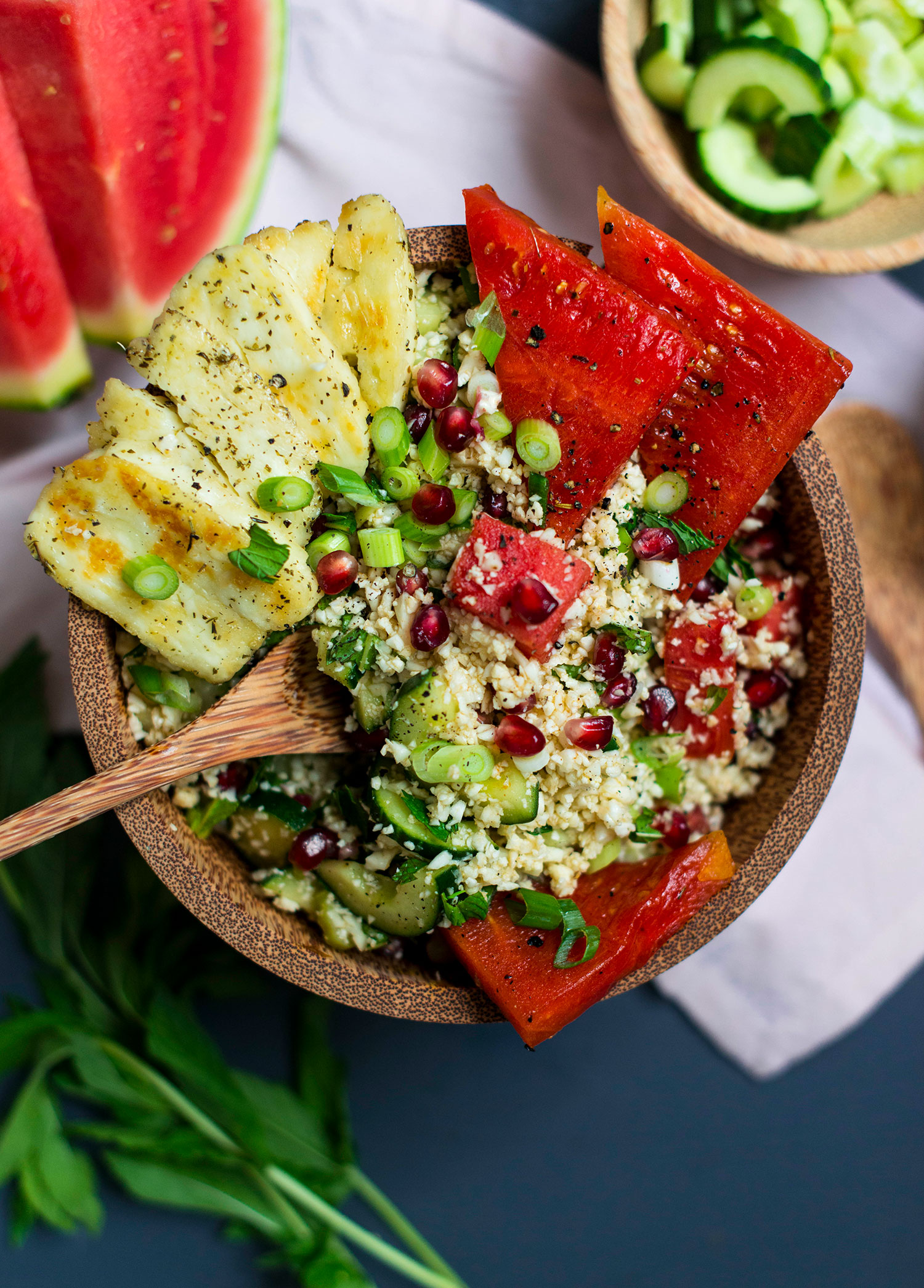 Cauliflower-tabouleh-halloumi-watermelon-1