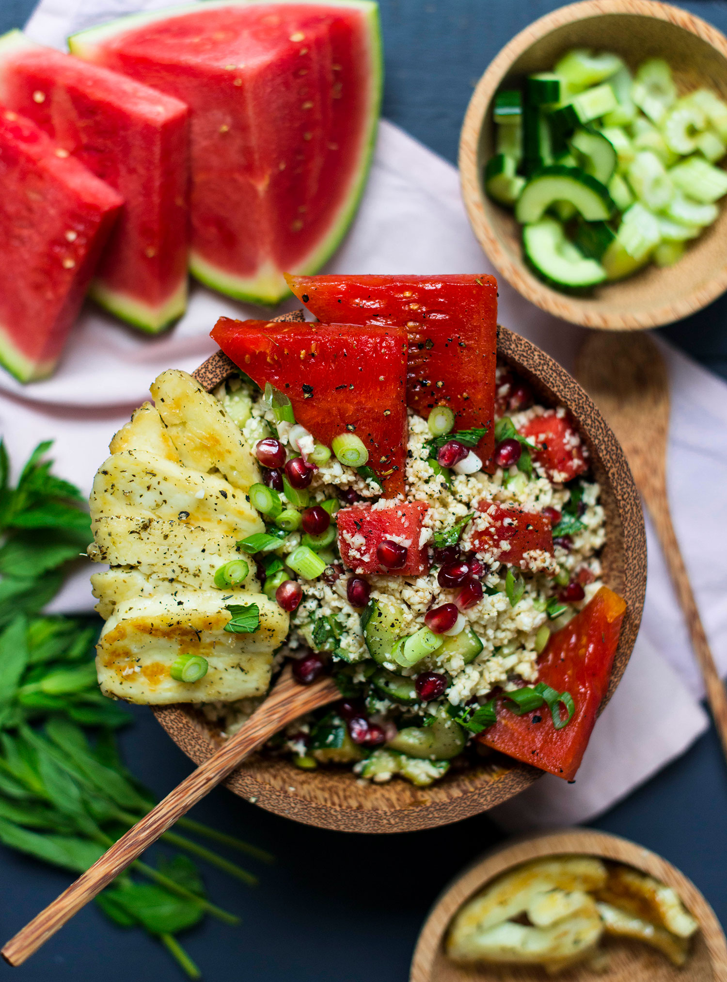 Cauliflower-tabouleh-halloumi-watermelon-2