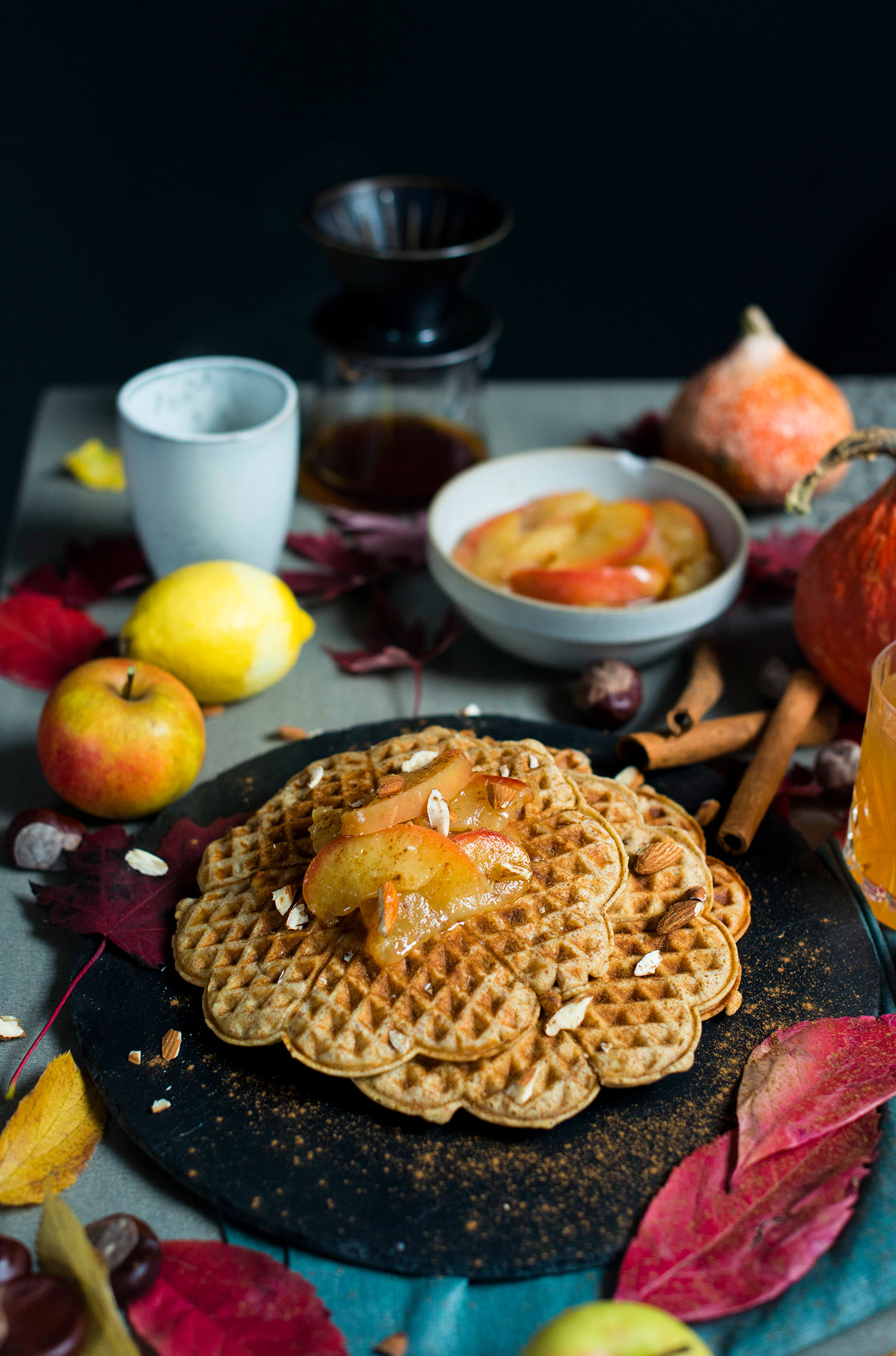 Marzipan-waffles-apple-compote-10