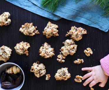 zuckerfreie Banane-Dattel-Walnuss-Kekse