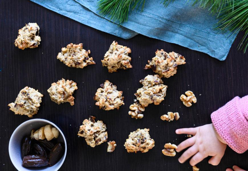 Neues Rezeptvideo: zuckerfreie Bananen-Dattel-Walnuss-Kekse