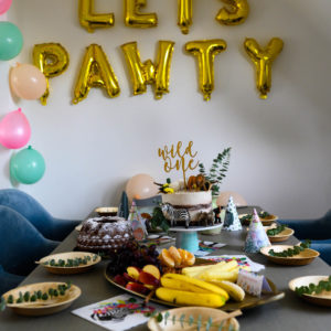 Wild ONE safari birthday party – Toni Lotta's first party