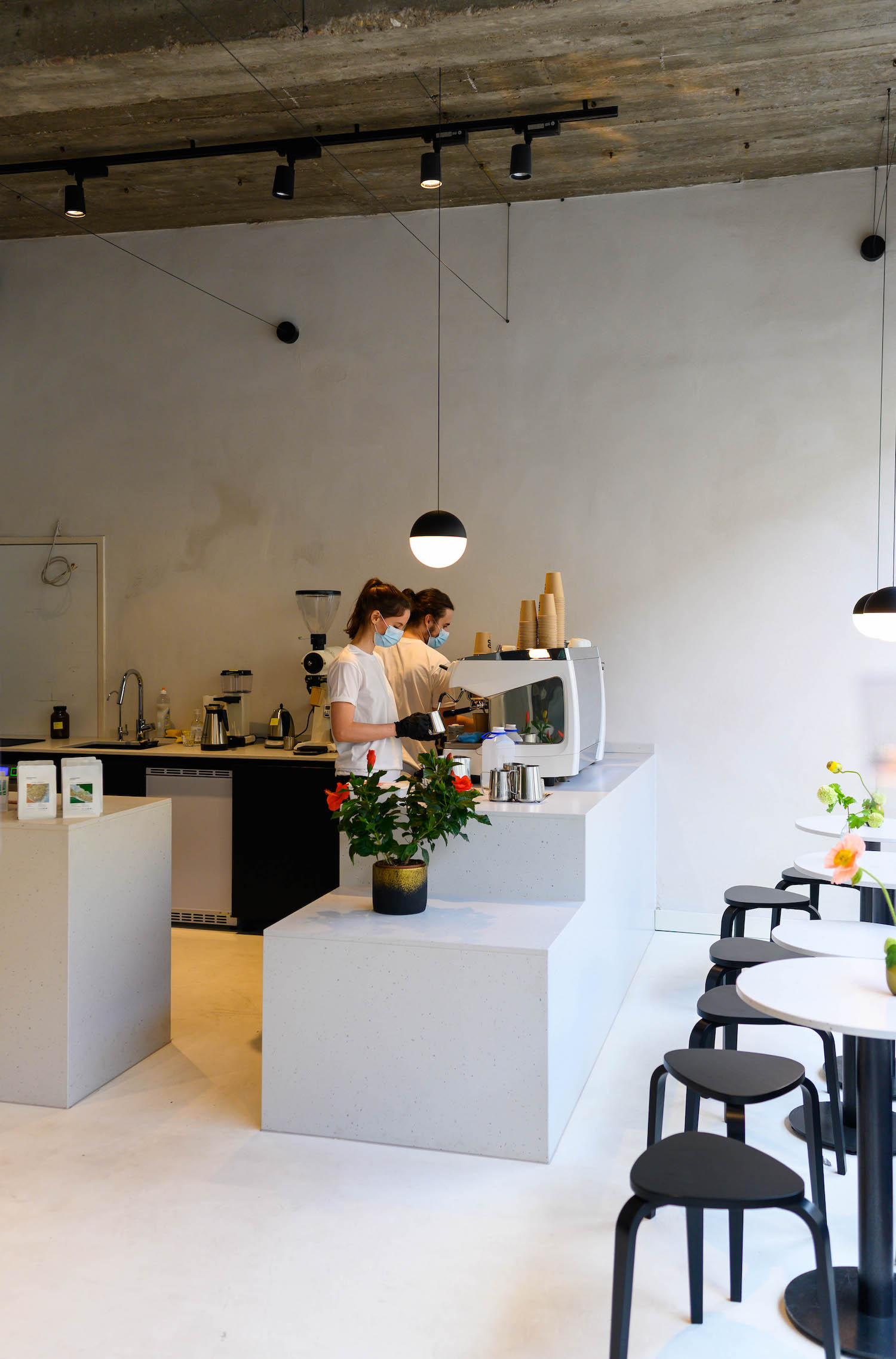 Drei Kaffeebar in Frankurt