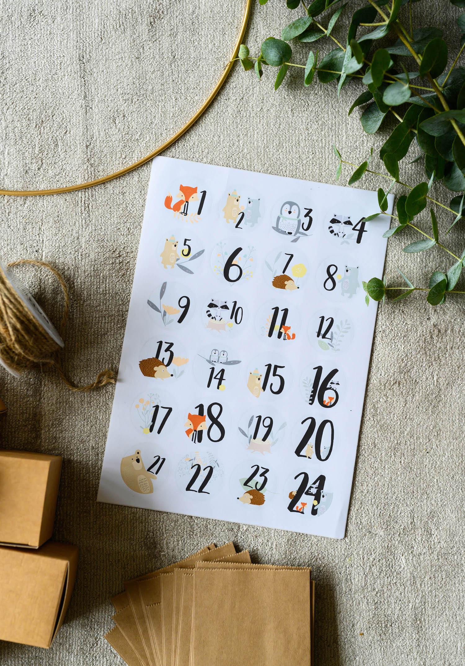 Kinder-Adventskalender basteln