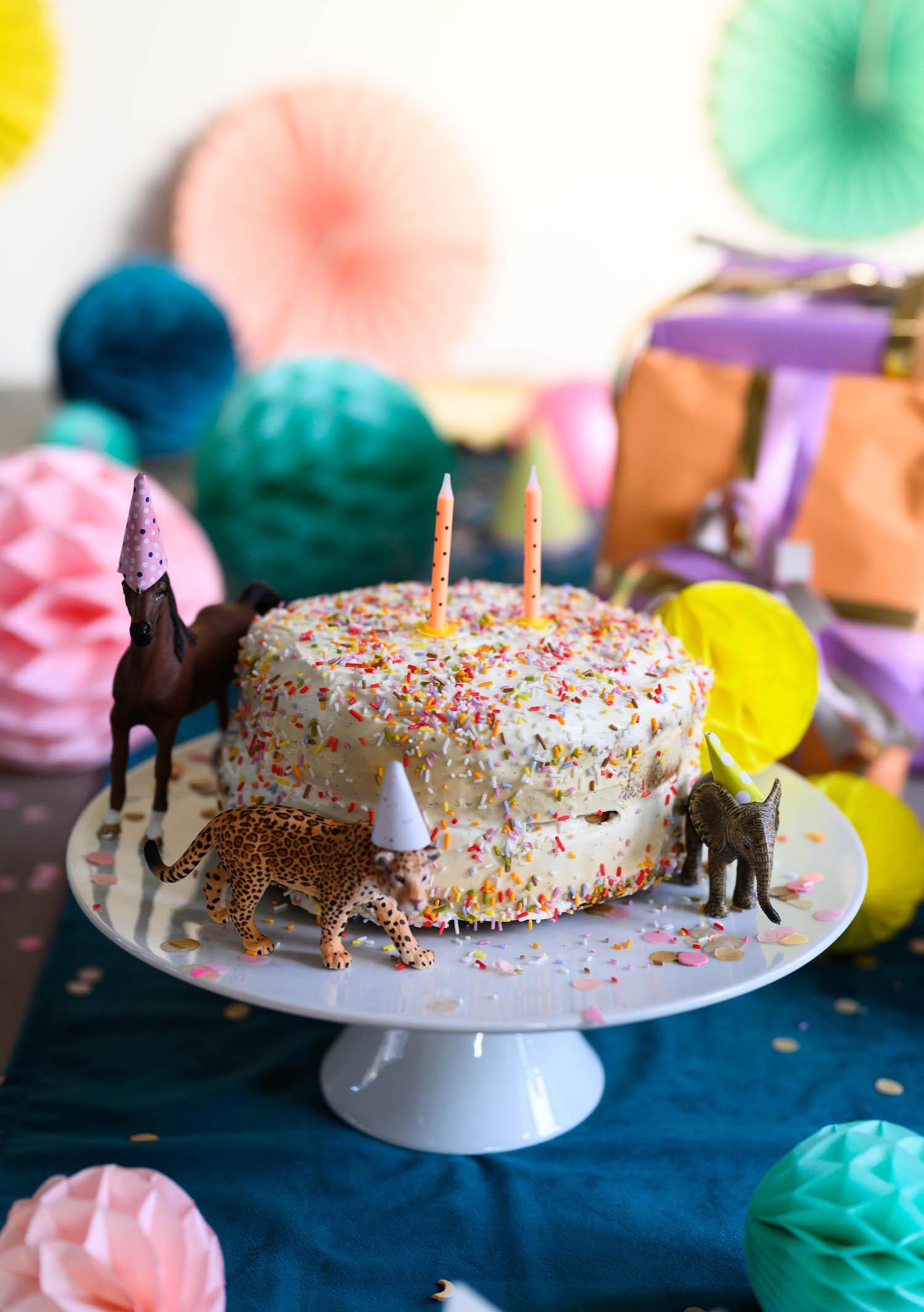 zuckerfreier Geburtstagskuch